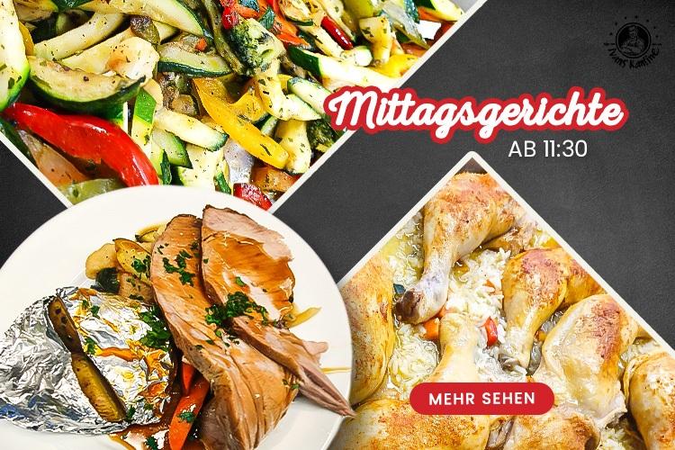 Mittagsgerichte - online bestellen